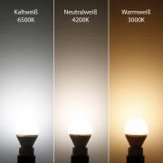 6x LED Lampen E27 8W U-Form Strahler Kaltweiß