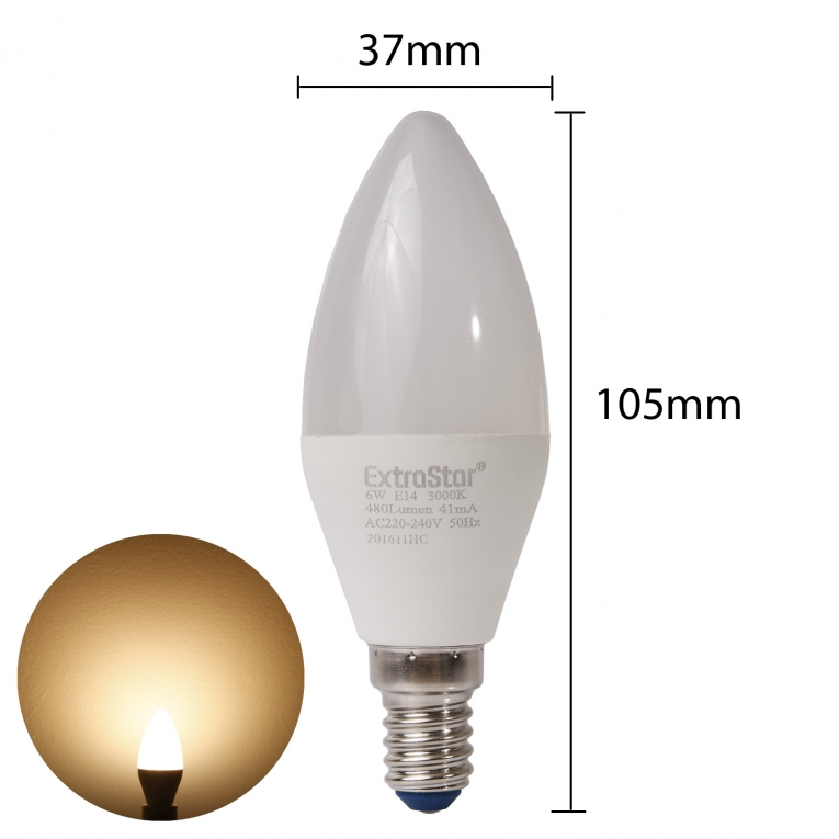 6x E14 LED Lampen 5W U Form Strahler Kaltweiß
